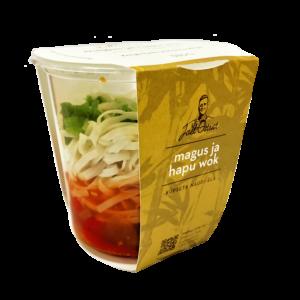 Magus & hapu wok köögiviljade ja riisinuudliga 380 g